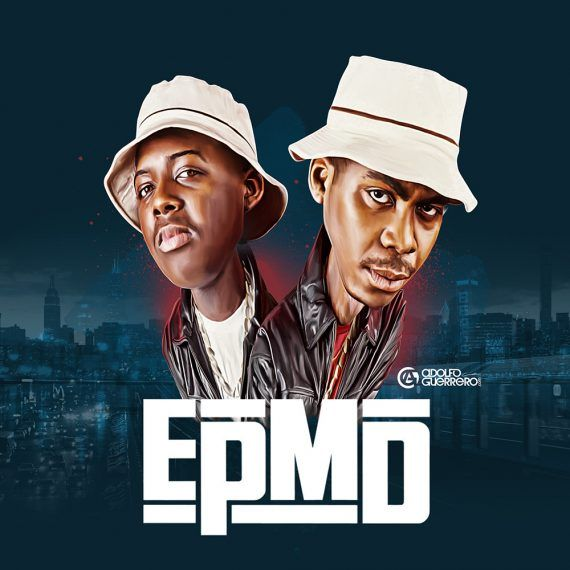 NEW YORK - CIRCA 1988: Rappers Parish Smith (right) and Erick Sermon of the hip hop group EPMD pose for a portrait circa 1988 in New York City, New York. (Photo by Michael Ochs